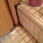 Badezimmer Ecke unter der Dusche