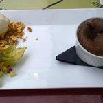 Chocoalte Lava Cake with vanilla ice cream, the best!