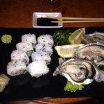 Uramaki con ostriche