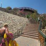 steep steps from 3rd floor upto rest of resort
