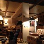 Lounge in premium apartment.