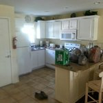 Kitchen in main room - can't see dining next to it