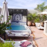 The plunge pool on the rooftop terrace