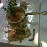 Antipasto, tris di pesci di lago Salice Blu BELLAGIO Settembre 2014