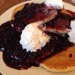 Cream cheese blueberry pancakes at Country Kitchen
