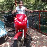 Daughter on motorcycle ride