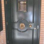 The door to the hotel