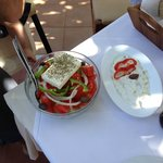 greek salad and seziki