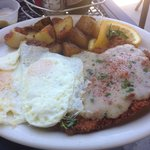 Chicken Fried Steak and Eggs. Came with a double stack of pancakes. YUM. And for a great price.