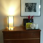 Table lamp in Room 1 - the only light apart from those by bedside