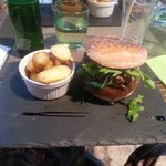 My main course burger, which was quite tasty