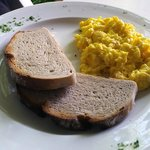 Scrambled egg with rye toast (what my husband loves to eat for breakfast)
