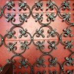 Ornate ironwork on walls
