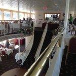 Inside the brunch cruise.