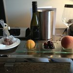 Wow! Complimentary wine, fruit & chocolate in our King studio suite!
