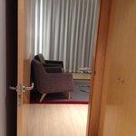 Room lobby into lounge area