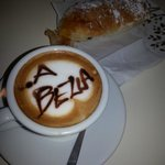 drawing on my cappuccino :)))