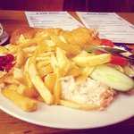 Small cod fish and chips