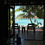 View from our deluxe beach front bure
