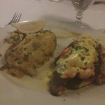 Blackened Redfish with lobster and lump crabmeat
