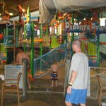A view inside Coco Key of the large play area