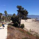 Bikes road along the beach
