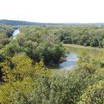 Castlewood State Park Meramec River is below