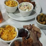Hughleys combo and the mixed chicken plate.  Sides and all...