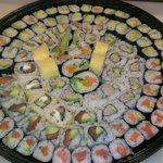Mix Platter with some vegetarian sushi