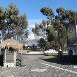 view from front gate with Chimborazo in the background