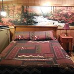 Bear's Den queen bed downstairs