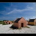 Salt Flats - slave huts,  Bonaire