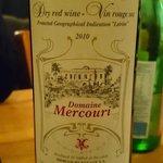 Un vin rouge du Péloponèse conseillé par le patron. Merveilleux