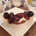 The delicious half-English breakfast.