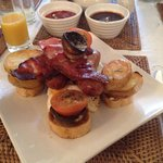The full-English breakfast. The best I've ever had!