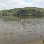 Kayaking in the lagoon.