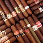 Full humidor with a large selection of cigars for sale in WDB's Cigar bar.