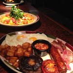 Our yummy Double Dip Dough Balls, Chicken Romana and The Big Breakfast