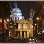 Hotel's and St.Paul's Cathedral night view