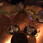 Apple Vodka Martini and nicely chilled Gin Martini