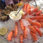 Huîtres et crevettes