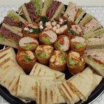 Party tray mix of hoagies, wraps, quesadilla & sandwiches