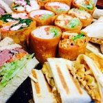 Combo party tray, wraps, hoagies, quesadilla wraps