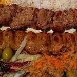 Mince lamb kebab and lamb filet