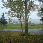 View of Lake Superior - cloudy,rainy day