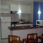 Area de la cocina de la Suite