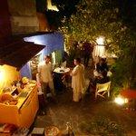 Abend im Innenhof