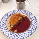Lamb and mint pie with gravy! Stunning!