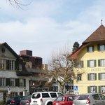 Kronenplatz mit Hotel Krone