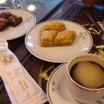 Baklavas y buen café